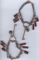Blood key Bracelets by black-shaddow-walker