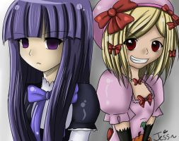 Bernkastel and Lambdadelta:. by animekitten16