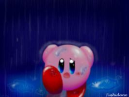 Kirby-Running in the Rain by Fushidane