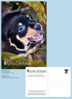 Animal Rescue Thank you Card by Saintbirdy