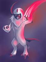 Red Shadow Absol by kephre