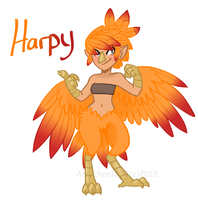 Day 1: Harpy by TheRaspberryFox