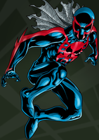 Spiderman 2099 by dwaynebiddixart
