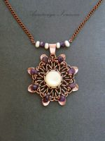 pendant with mother of pearl and amethyst by nastya-iv83