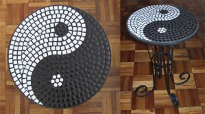 Black and White Ying Yang Table by EleonoraIlieva