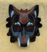 Black Dire Wolf Mask by merimask