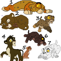 infant cub adoptables by wolvesanddogs23