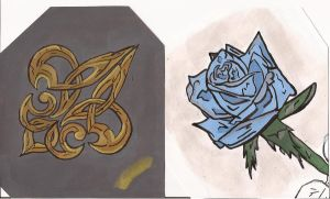 ice rose and fleur de lis by angelbaby88
