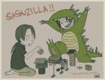 Sasuzilla for WredWrat by jingster