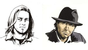 leverage sketches - Eliot and Nate by astridv