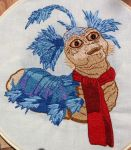 Allo worm Labyrinth embroidery by starrley