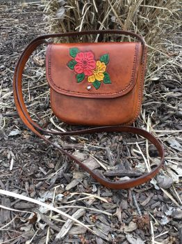 Wet molded and tooled leather purse  by Jleather
