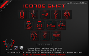 Icons Shift for Dock 2014 by DShepe by DShepe