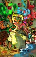 +FANART+Mother 3 Mushroom Trip by TrashME