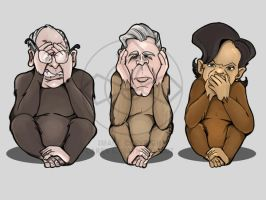 Three Wise Monkeys by coffinberry