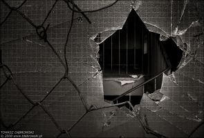 Behind the broken glass by Dhante