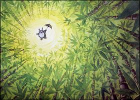 Totoro flying by Sigyn85