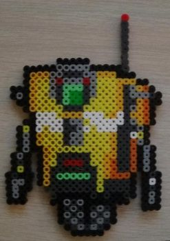 Claptrap from Borderlands Perler by SuperSensei