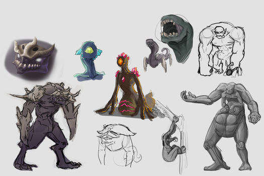 Summer 2016 - Creature Concepts by Sphuky