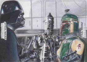 SW Illustrated: TESB - Vader-Boba Fett-IG-88 ARC by DenaeFrazierStudios