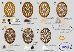 Gold Colouring Tutorial by Yagellonica