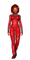 Lt Vicco in a Spacesuit by Sailmaster-Seion