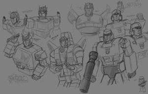 First Transformers G1 Sketches by CarnivorousTwinkie