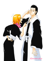 Isshin and Rangiku by Nanaruko