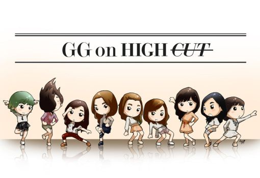 snsd high cut BTS by anosa228