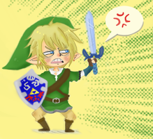 LINK IS NOT AMUSED. by DreamaMoonlight
