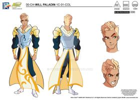 Will Paladin (Character Model Sheet) by Cyberwinx