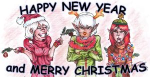 HAPPY NEW YEAR and MERRY CHRISTMAS by NastyaZ