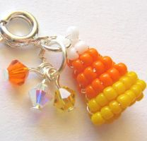 Beaded Halloween Candy Corn by MigotoChou