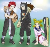 Bratty Gaara and co - colored by gummypocky