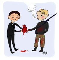 Bloody Valentines: Seb+Jim by Mad-Hattie