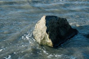 Rock in the Sea by Dori-Stock