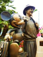 Walt and Mickey Statue 2 by sevenaries