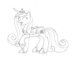 Princess Cadence (Sketch) by TheNegaverser