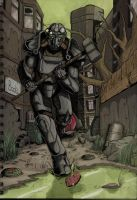 Fallout 4 - Downtown Boston Coloured by SirDanielofBrindley