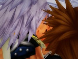 Hero's Kiss-SoRiku by SoraPreston