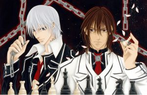 Vampire Knight:Zero and Kaname by starxade