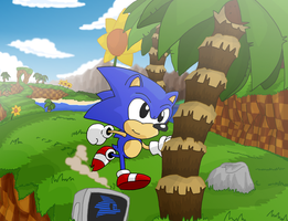 Green Hill Zone by SmashToons