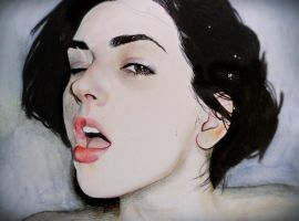 Realism with colored pencil by Br0066