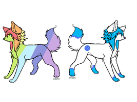 Wolf adopts/breedables ! by ArtisticAnubis