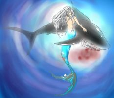 Blue mermaid Squalo by joker4msy