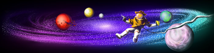 Cosmic Bandito Youtube Banner by Sarcallow