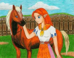 Malon and Epona by Malu-CLBS