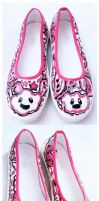 pink cloudy shoes by JONY-CAKEP