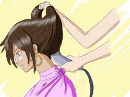 Fairy tail Eclair haircut by danielwartist
