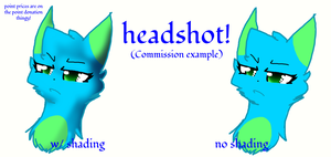Commission headshot example! by X-DaveTheCat-X